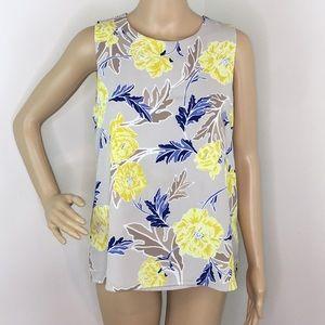 🦋3/$25 C&E Sleeveless Floral Blouse